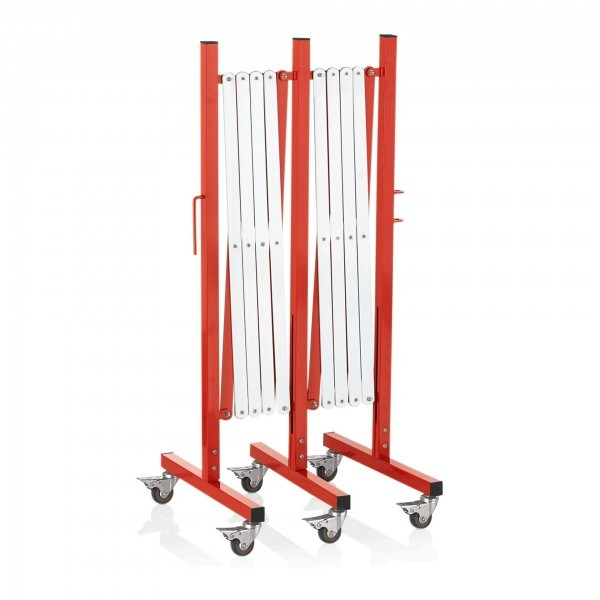 Scherensperre - Aluminium - rot-weiß gestreift - zusammengeschoben - 2395.351